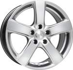 MAK Alloy Wheel Web Silver, 16x7. 0 5x112 ET45