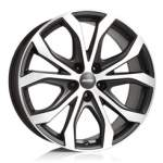ALUTEC Valuvelg W10 Black Polished, 20x9. 0 5x120 ET43 Keskava 72