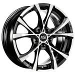OZ Valuvelg MSW Cross Over BLK Polish, 17x7. 5 5x114. 3 ET40 Keskava 73