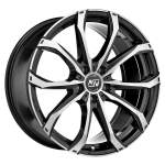 MSW Alloy Wheel 48 Black Full Pol, 17x7. 5 5x118 ET42 middle hole 71