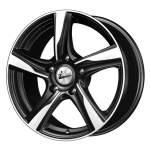 iFree Alloy Wheel Kite Black Polished, 16x7. 0 5x108 ET45 middle hole 67