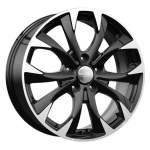 KiK Alloy Wheel KC740 Black Polished, 17x7. 0 5x114. 3 ET50 middle hole 67