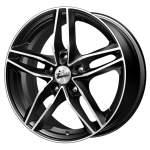 iFree Alloy Wheel MSKV Black Polished, 16x6. 5 5x114. 3 ET45 middle hole 67