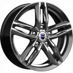 KiK Alloy Wheel Sayan Dark Platinum, 16x6. 0 5x100 ET38 middle hole 57
