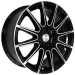 KiK Alloy Wheel SKAD LeMans Black Polish, 16x7. 0 5x112 ET41 middle hole 57