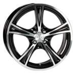 ACC Viper Black Polished 73, 1 14x6 4x100 Offset 38