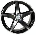 ACC Sport 5 Black Polished 66, 6 15x6, 5 5x112 Offset 38