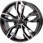 MSW Alloy Wheel 71 Dark Grey Polished, 17x7. 5 5x114. 3 ET45 middle hole 73