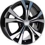 KiK Alloy Wheel SKAD Nagano Black Pol, 16x6. 5 5x112 ET46 middle hole 66