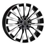 MAK Alloy Wheel Krone Black Mirror, 17x7. 5 5x112 ET45 middle hole 66