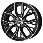 MOMO Alloy Wheel Massimo Matt Blk DC, 17x7. 5 5x100 ET42 middle hole 72