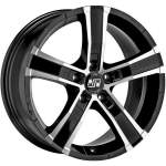 MSW Alloy Wheel Sahara 5 Black Polish, 18x8. 0 5x120 ET45 middle hole 65