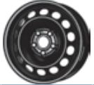 MW 6. 0x16, 5x112, CH 57, ET: 48; wheel steel AUDI A3; SEAT LEON, LEON SC