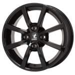 ITWHEELS 6. 0x15, 4x100, CH 63, 3, ET: 40; velg alumiinium Alisia Gloss black