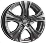 KiK Alloy Wheel KC673 Dark Platinum, 17x7. 0 5x112 ET48 middle hole 66