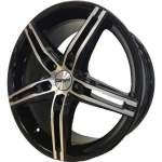 Carwel Alloy Wheel Alpha Black Polish, 17x7. 0 5x114. 3 ET45 middle hole 67