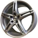 Carwel Alloy Wheel Alpha Silver, 17x7. 0 5x112 ET50 middle hole 57