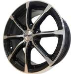 Carwel Alloy Wheel Beta Black Polish, 15x6. 0 4x100 ET40 middle hole 67