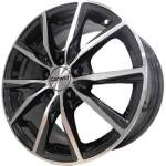 Carwel Alloy Wheel Gamma Black Polish, 15x6. 0 5x114. 3 ET45 middle hole 67