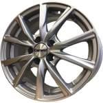 Carwel Alloy Wheel Gamma Silver, 15x6. 0 5x100 ET38 middle hole 57