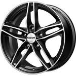Carwel Alloy Wheel Tau Black Polished, 16x6. 5 5x114. 3 ET45 middle hole 67