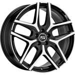 MSW Alloy Wheel 40 Black Polished, 17x7. 0 ET middle hole 65
