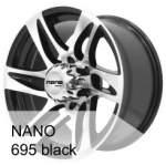 Āzijas diski Valuvelg NANO 695 Black, 17x8. 5 ET Keskava 10
