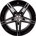 Carwel Alloy Wheel Alpha Black Polish, 17x7. 0 5x112 ET40 middle hole 66