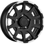 SPARCO Alloy Wheel Dakar Mat Blk Pol, 16x5. 5 ET middle hole 08