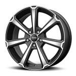MOMO Alloy Wheel Legend Matt Blk Pol, 17x7. 0 5x100 ET43 middle hole 72