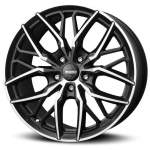 MOMO Alloy Wheel Spider Matt Blk DC, 19x8. 5 5x108 ET45 middle hole 72