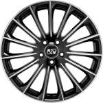 MSW Alloy Wheel 30 Black Full Polish, 17x7. 5 5x114. 3 ET45 middle hole 73