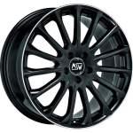 MSW Alloy Wheel 30 Gloss Blk Pol Lip, 17x7. 5 5x112 ET35 middle hole 73