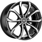 MSW Alloy Wheel 48 Black Full Pol, 17x7. 5 5x114. 3 ET40 middle hole 73