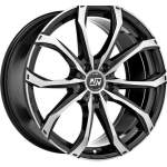 MSW Alloy Wheel 48 Black Full Pol, 17x7. 5 5x120 ET50 middle hole 65