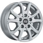 MSW Alloy Wheel 48 Van Silver, 16x6. 5 5x130 ET55 middle hole 78