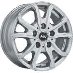 MSW Alloy Wheel 48 Van Silver, 16x6. 5 5x160 ET60 middle hole 65