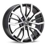 MSW Alloy Wheel 49 Gun Met Polished, 18x8. 0 5x112 ET40 middle hole 73