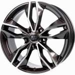 MSW Alloy Wheel 71 Dark Grey Polished, 17x7. 5 5x112 ET45 middle hole 57