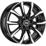 MSW Alloy Wheel 79 Black Polished, 17x7. 0 ET middle hole 57
