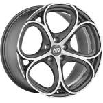 MSW Alloy Wheel 82 Gun Metal Polished, 18x8. 0 5x112 ET42 middle hole 73